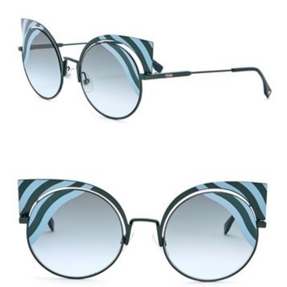 3ea10e0889 Fendi 53mm Cutout Cat Eye Sunglasses NWT